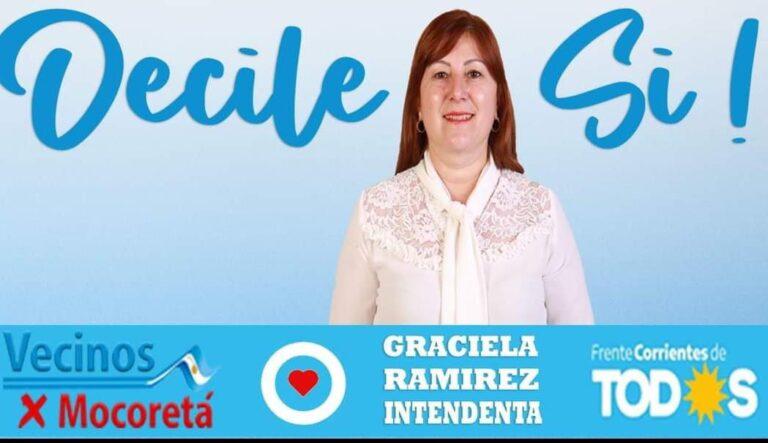 Graciela Ramírez, primera mujer candidata a Intendente de Mocoretá
