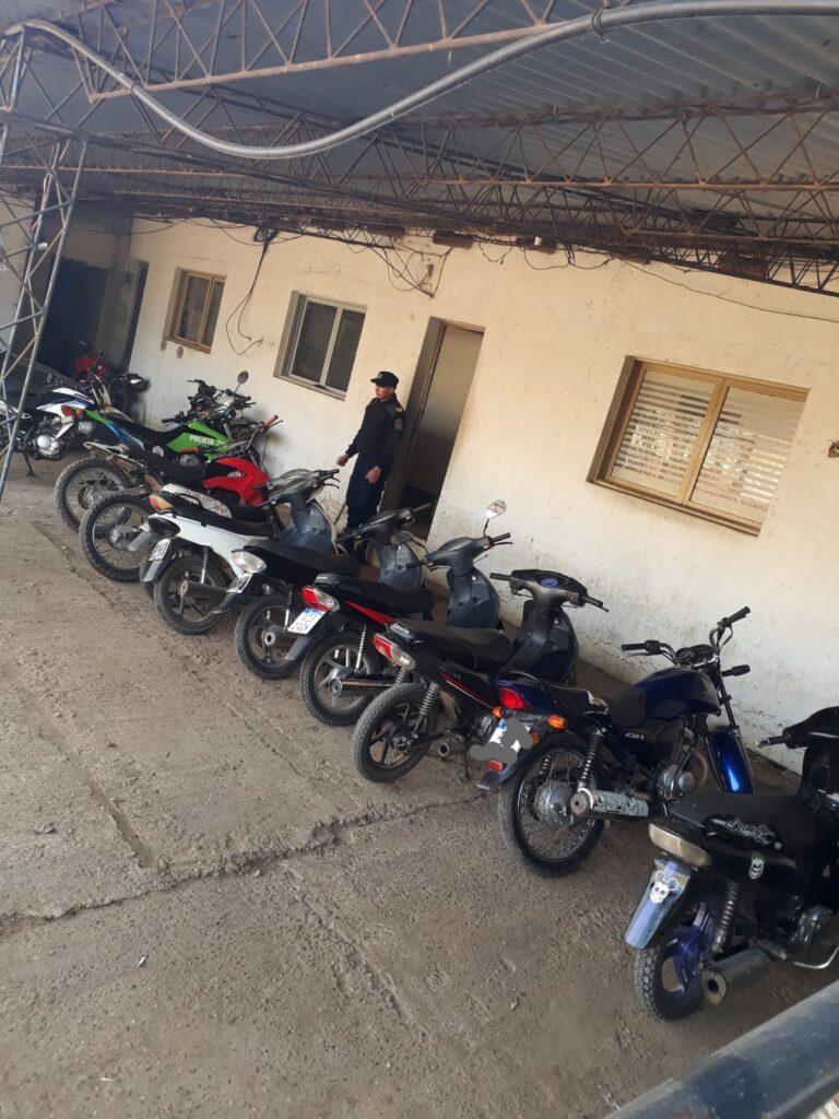 Fin de semana con varias motos secuestradas