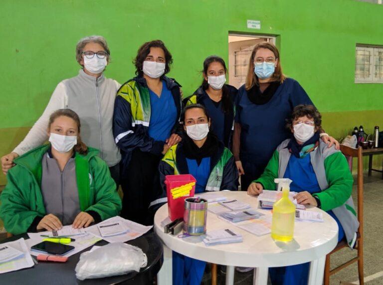 Ellas: el Equipo de Vacunación Covid de Mocoretá